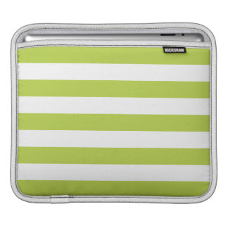 Tender Shoots Green Stripes Pattern Sleeve For iPads