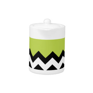 Tender Shoots Pattern On Large Zigzag Chevron Teapot