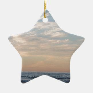 Tender sunset ceramic ornament