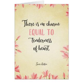 Tenderness of heart card