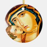 Tenderness Double-Sided Ceramic Round Christmas Ornament