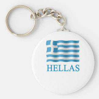 Tending mow Greece in Greek - + Flag Keychain