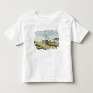 Tending tea plants (w/c on paper) toddler t-shirt