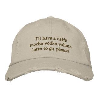 Tendré un latte del valium de la vodka de la moca  gorras bordadas