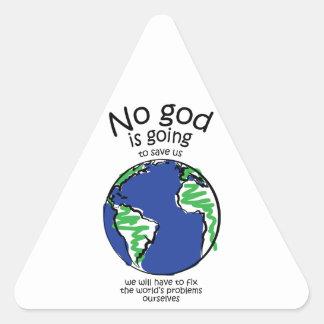 Tendremos que fijar los problemas del mundo pegatina triangular