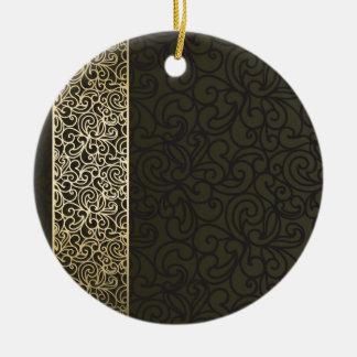 Tendril 01 round ceramic decoration