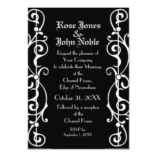 Tendrillon Ebony (White) Wedding Invitation