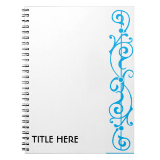 Tendrillon Ivory (Cyan) Notebook