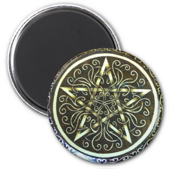 Tendrils and Hearts Pentacle Magnet