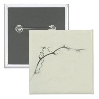 Tendrils de la zarza en la niebla - Minimalism Pin Cuadrado