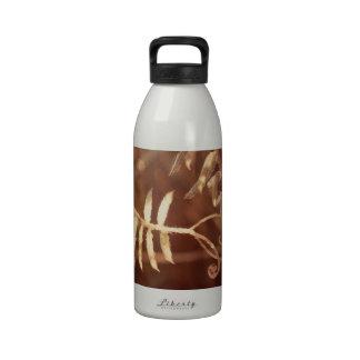 Tendrils de oro del guisante de olor del otoño botella de agua