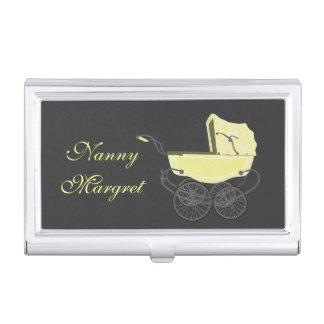 Tenedor amarillo de la tarjeta de visita del coche cajas de tarjetas de negocios