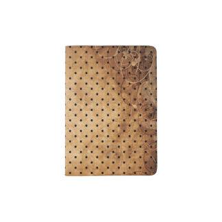 Tenedor antiguo del pasaporte del instinto porta pasaporte