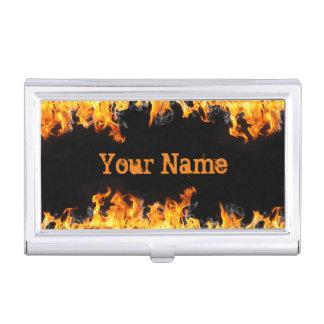 Tenedor ardiente de la tarjeta de visita de las cajas de tarjetas de negocios
