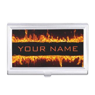 Tenedor ardiente de la tarjeta de visita de las cajas de tarjetas de presentación