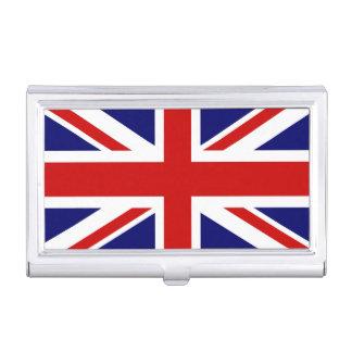 Tenedor británico de la tarjeta de visita de la ba caja de tarjetas de negocios