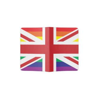 Tenedor BRITÁNICO del pasaporte del GAY (BANDERA Porta Pasaporte