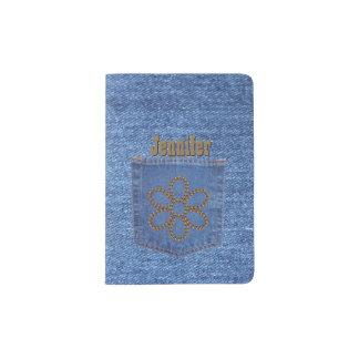 Tenedor de encargo del pasaporte de la mirada porta pasaportes