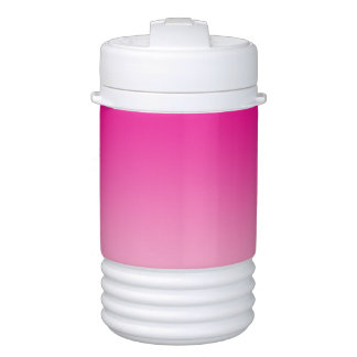Tenedor de la bebida: Ombre rosado Enfriador De Bebida Igloo