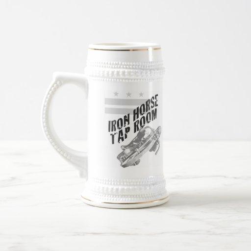 Tenedor de la cerveza del caballo de hierro jarra de cerveza