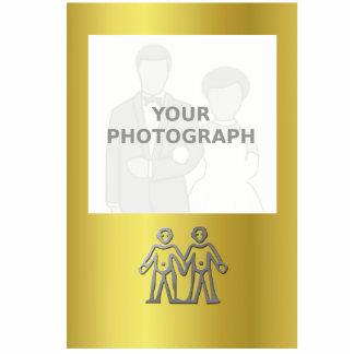Tenedor de la foto de la plata de la luz de la fotoescultura vertical