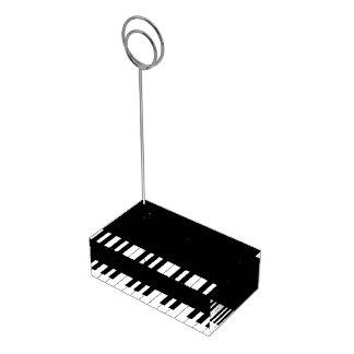 Tenedor de la invitación de boda de la música del soportes para tarjetas de mesa