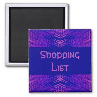 Tenedor de la lista de compras imán cuadrado