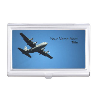 Tenedor de la tarjeta de visita de la aviación caja de tarjetas de presentación