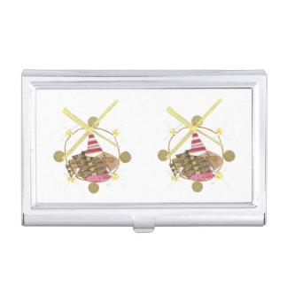 Tenedor de la tarjeta de visita de la noria del cajas de tarjetas de visita