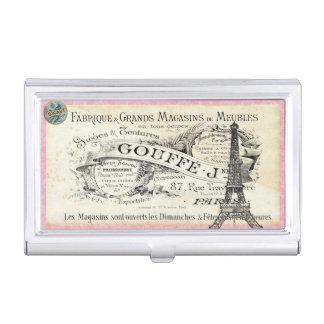 tenedor de la tarjeta de visita de París del Cajas De Tarjetas De Presentación