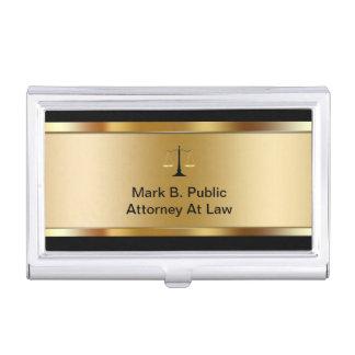 Tenedor de la tarjeta de visita del abogado caja de tarjetas de negocios