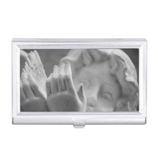 Tenedor de la tarjeta de visita del ángel cajas de tarjetas de presentación