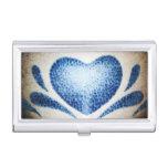 Tenedor de la tarjeta de visita del corazón caja de tarjetas de presentación