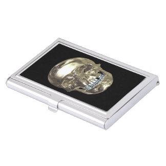 Tenedor de la tarjeta de visita del cráneo del cajas de tarjetas de visita