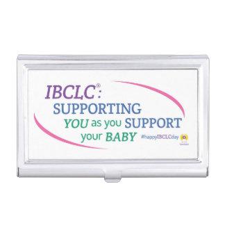 Tenedor de la tarjeta de visita del día de IBCLC® Caja De Tarjetas De Negocios