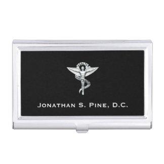Tenedor de la tarjeta de visita del emblema de la cajas de tarjetas de presentación