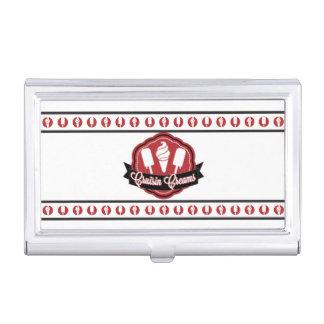 Tenedor de la tarjeta de visita del helado cajas de tarjetas de negocios
