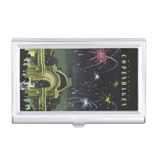 Tenedor de la tarjeta de visita del viaje del vint cajas de tarjetas de negocios