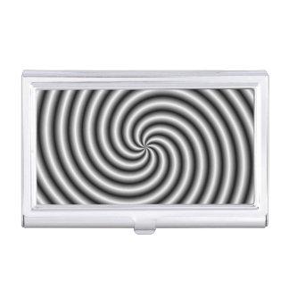 Tenedor de la tarjeta de visita el remolino en cajas de tarjetas de visita