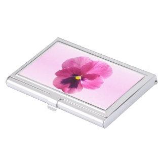 Tenedor de la tarjeta de visita - pensamiento rosa caja de tarjetas de presentación