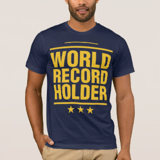 ¡Tenedor de récord mundial! Playera