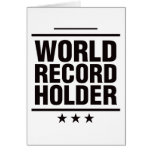 ¡Tenedor de récord mundial! Tarjetón