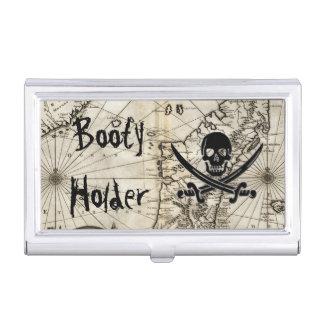 Tenedor del botín caja de tarjetas de negocios