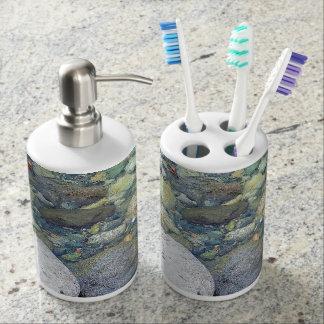 Tenedor del cepillo de dientes del adorno de la vasos para cepillos de dientes