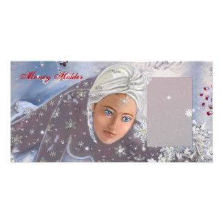 Tenedor del dinero del día de fiesta tarjeta con foto personalizada