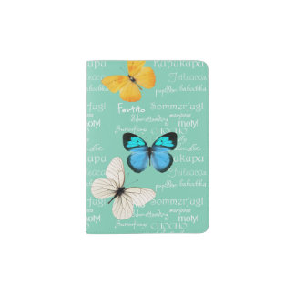 Tenedor del pasaporte de las mariposas porta pasaporte