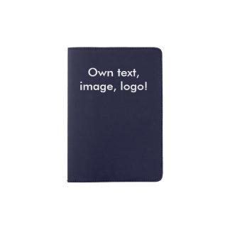 Tenedor del pasaporte uni azul marino porta pasaporte