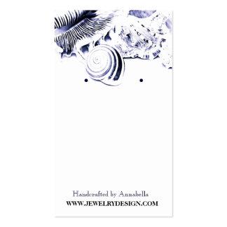Tenedor del pendiente de los Seashells Tarjetas De Visita