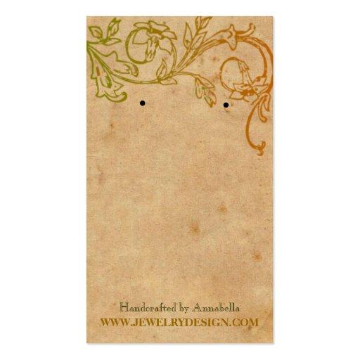 Tenedor del pendiente tarjetas de visita