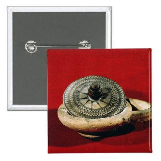 Tenedor del perfume de Etruscan Pin Cuadrado